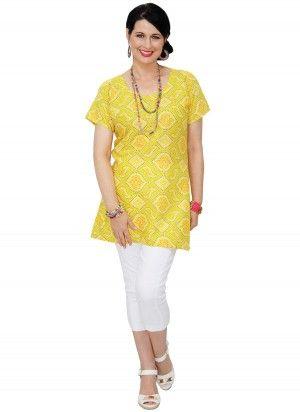 Abi Mid Length Yellow Tunic Top  AUD $24.95