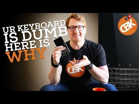 Blackberry Smart KeyOne Keyboard - YouTube