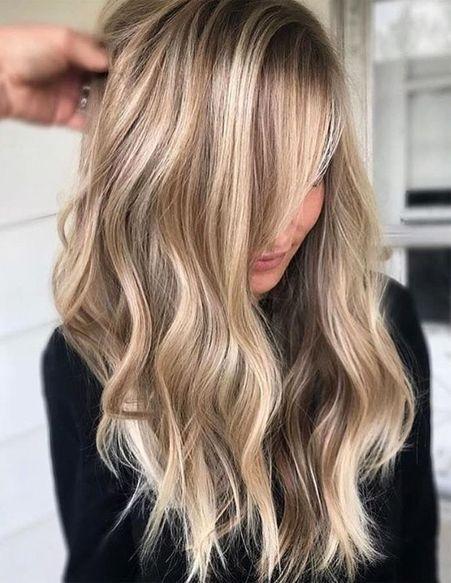 Die heißesten Haarfarbtrends für lange Frisuren 2019   #haar #haarfrisuren #ha…