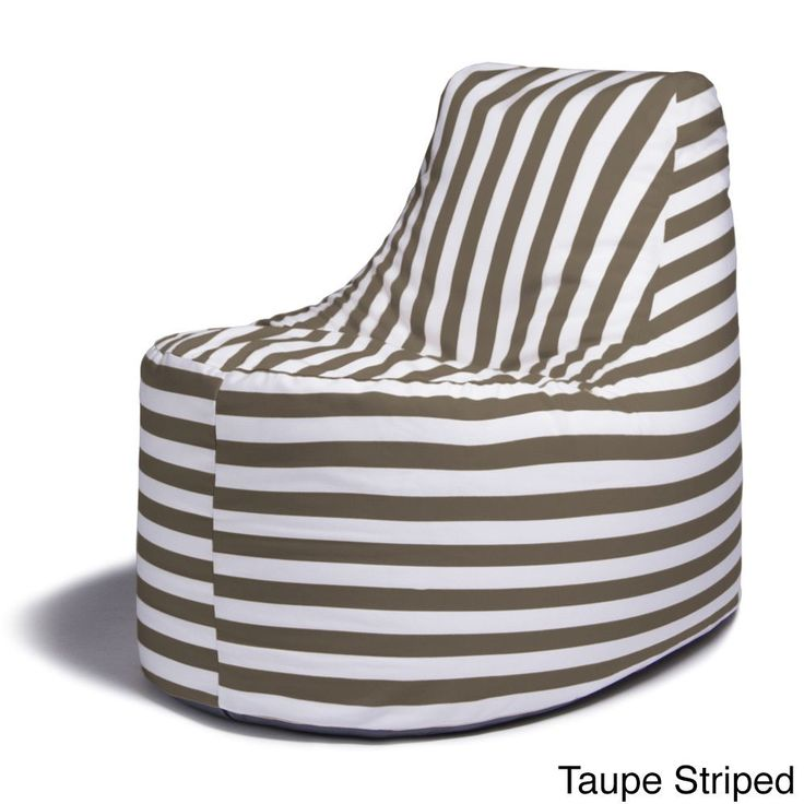 Jaxx Avondale Outdoor Bean Bag Chair (Taupe Striped), Multi, Size Single, Patio Furniture (Acrylic)