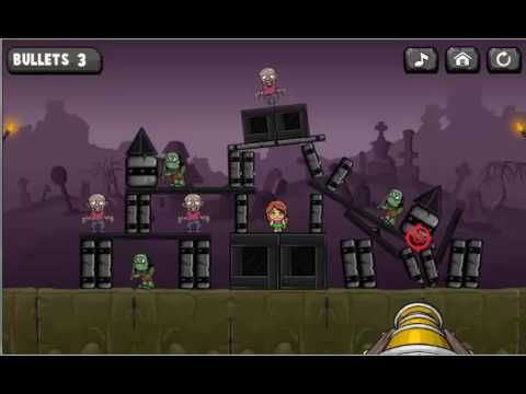 Bang the Zombies Game. Play game at http://www.y0-games.com/bang-the-zombies.html. Destroy the tower and kill zombies. You must think logically, cause you can shoot only the tower, but not zombies. So try to make it perfect, they must be dead! There are a lot of exciting levels, so be patient and vanquish this game. Have fun.
