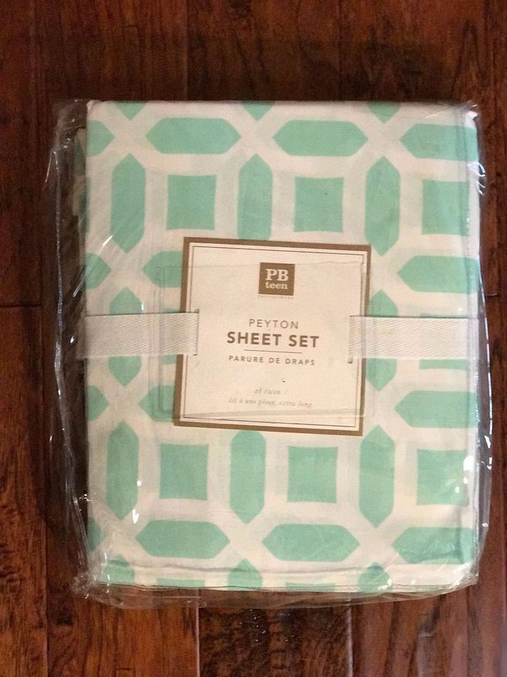 Pottery Barn Teen PEYTON Twin/Twin XL Sheet Set Pool NIP #PotteryBarnTeen