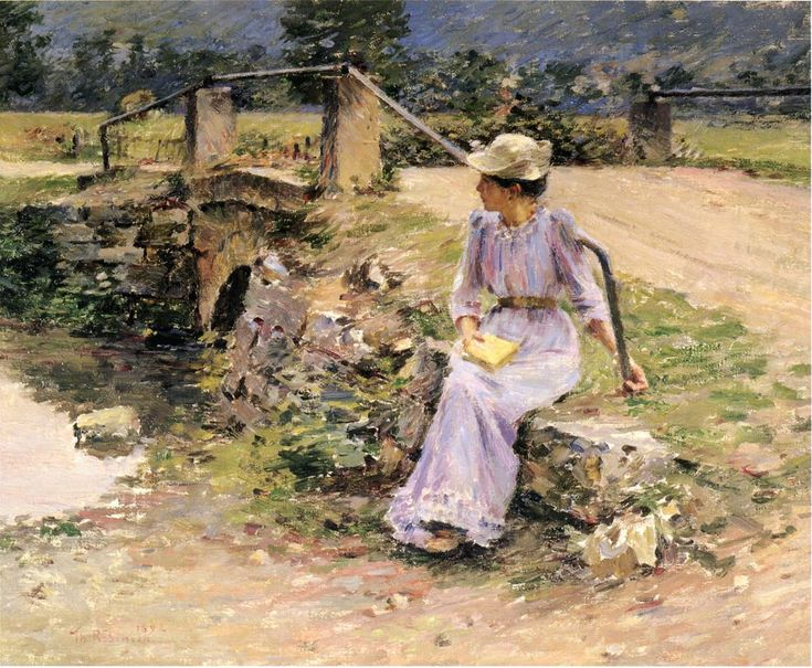 La Debacle(also known as Marie at the Little Bridge)  Theodore Robinson
