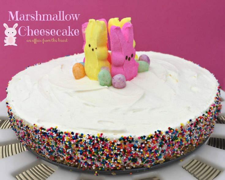 This no bake Marshmallow Cheesecake is creamy and delicious and so easy to make!