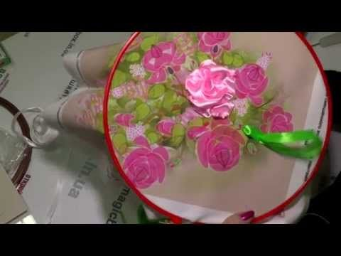 ▶ Мастер-класс по вышивке лентами, урок №1 - YouTube