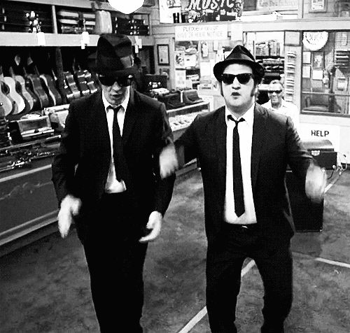The Blues Brothers classic Friday film. One of the best films ever made! So funny! YES! I'm the fat one! Also see the movie GO! So funny! D:)