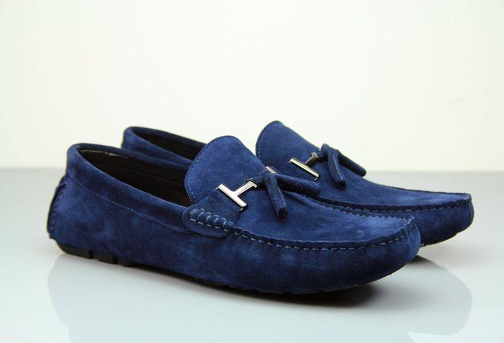 Fane Buckle Dark Blue Suede Loafers. #institchu #mensstyle #menswear #footwear #suedeloafers