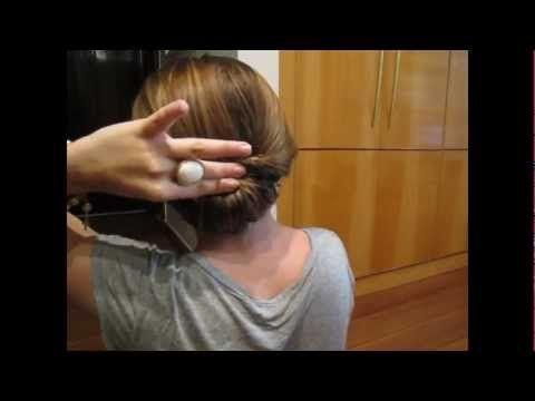 Penteado Coque Invertido - cabelo médio / longo - YouTube