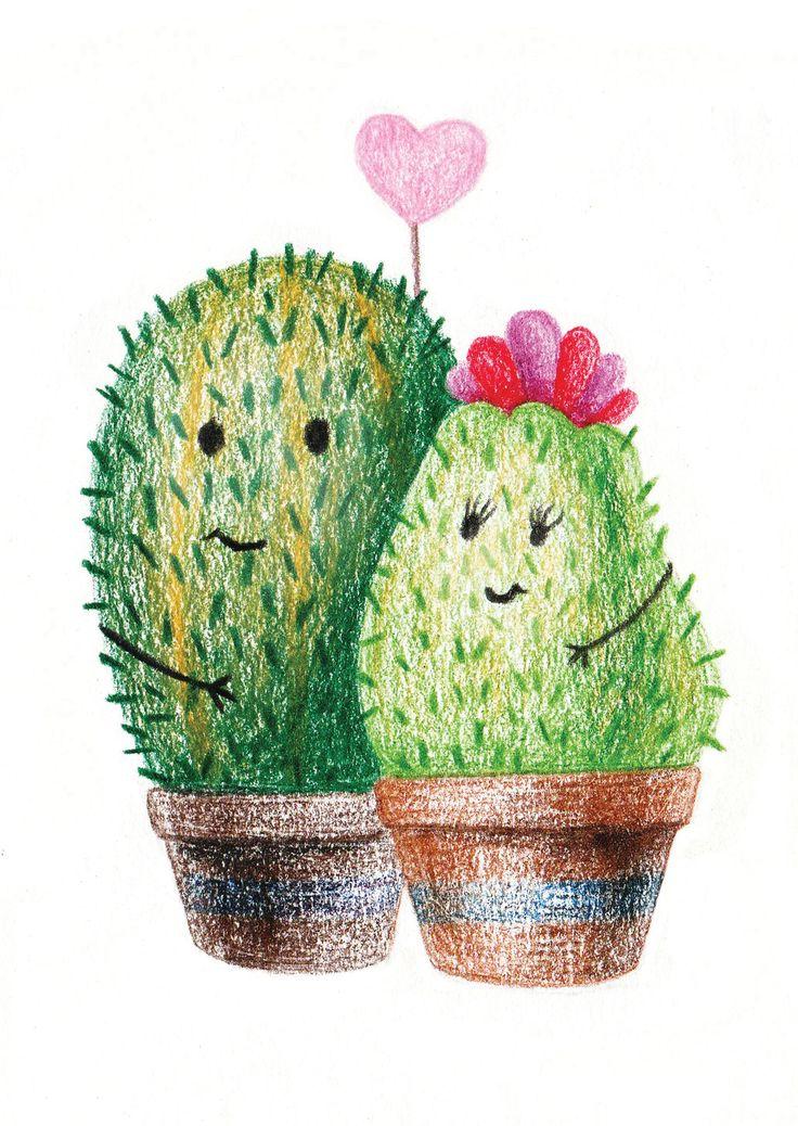 Ягодой, картинка смешного кактуса для детей