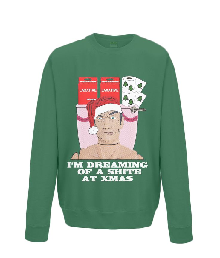 """""""Shite"""" Christmas....oh dear...most of us are dreaming of a White Christmas! Rude, Funny Christmas Jumpers at www.plasticpam.com"""