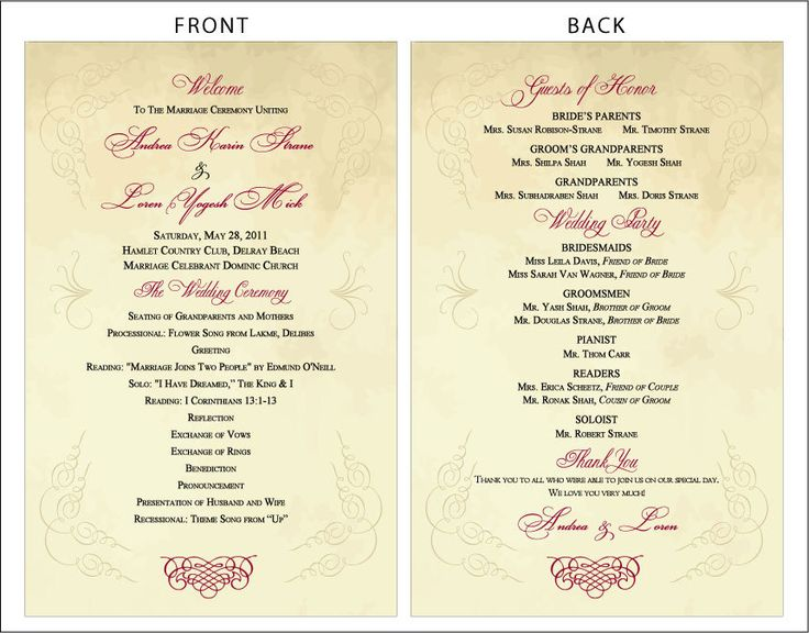 Best Images About Wedding Programs On Pinterest How To Design - how to design wedding program template