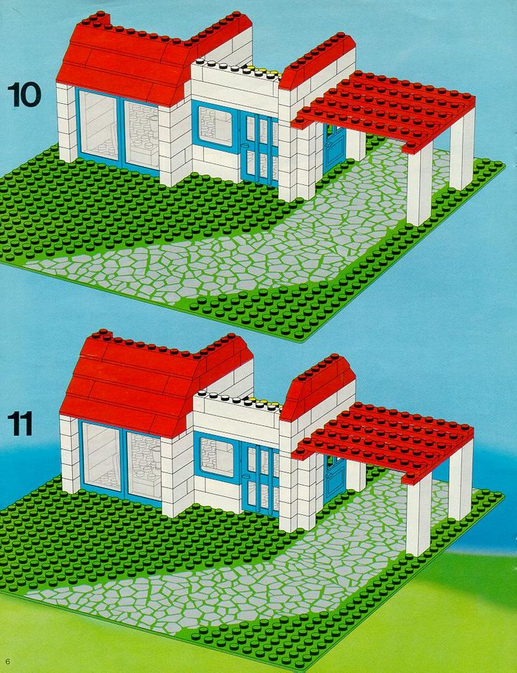 Old LEGO® Instructions | letsbuilditagain.com Lego Instructions Lego ...