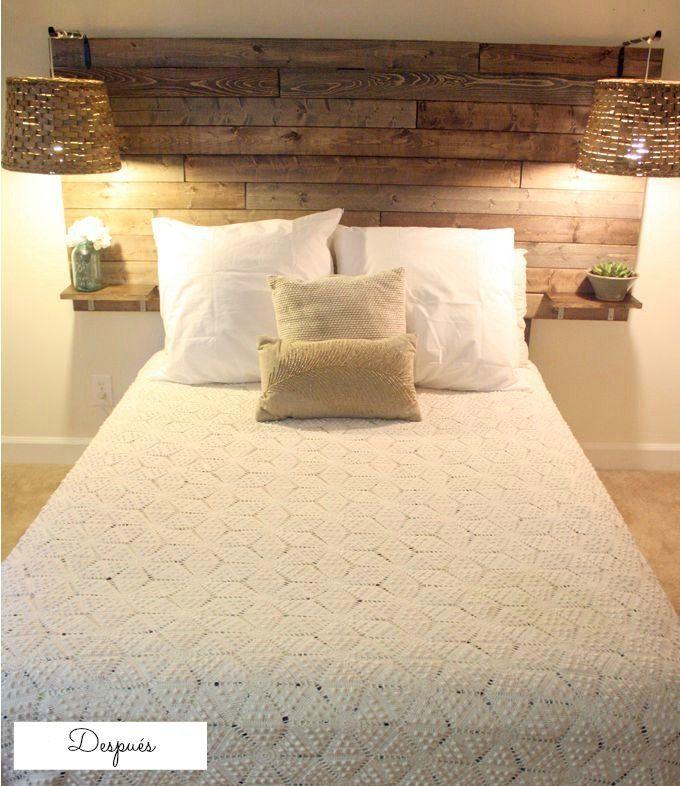 17 mejores ideas sobre cabecera de madera en pinterest - Cabeceros de cama con palets ...