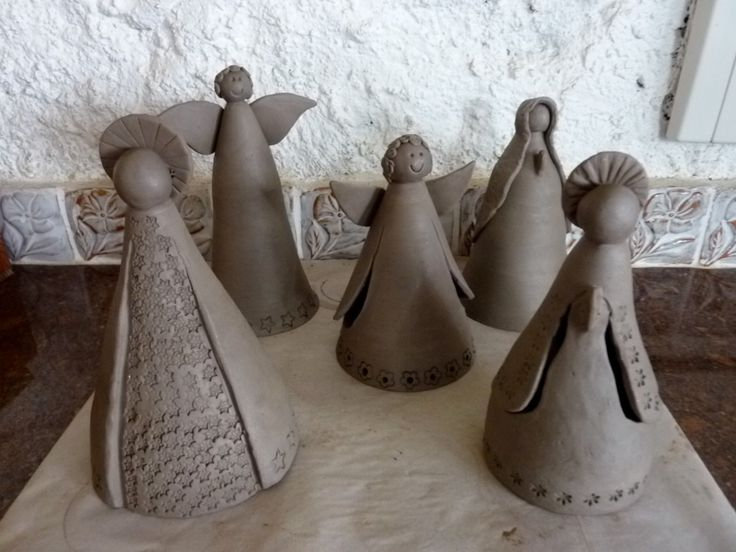 Angels - Anjos de ceramica