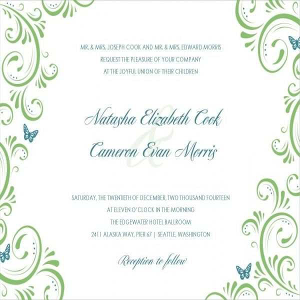 17 Best ideas about Sample Of Wedding Invitation – Example of Wedding Invitation Cards