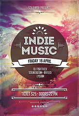 indie music festival posters - Google Search