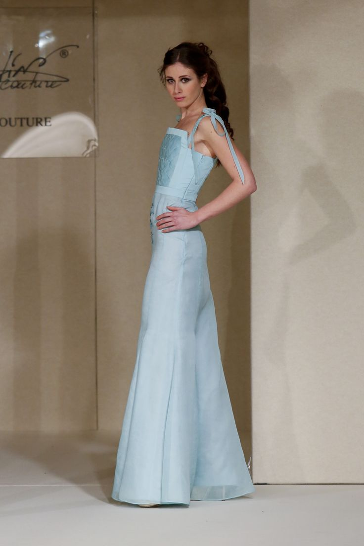 #MartinaCouture #ImagoVeli #FashionShow #light #blue #Gowns #Collection SS 2016