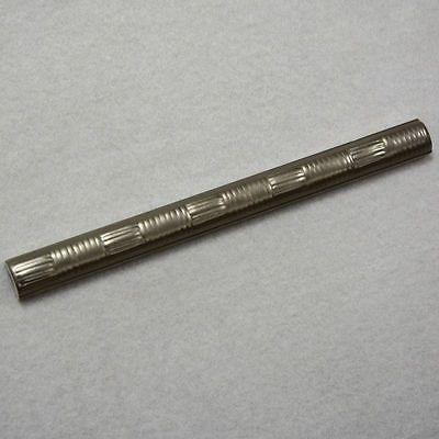 Bordüre Palio by Steuler gewölbt silber Aluminium 2,5 x 30 Restposten Nr. 56