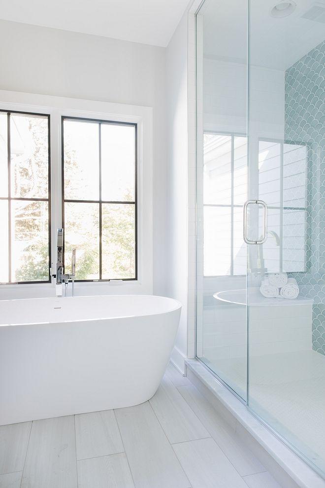 Corner Lot Modern Farmhouse White Bathroom Tiles Bathroom Tile Designs Bathroom Floor Tiles
