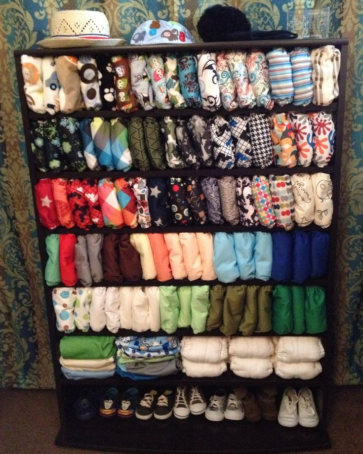 ~Cloth Diaper Storage Solution~  DVD/Multimedia Towers are PERFECT for cloth diaper storage!