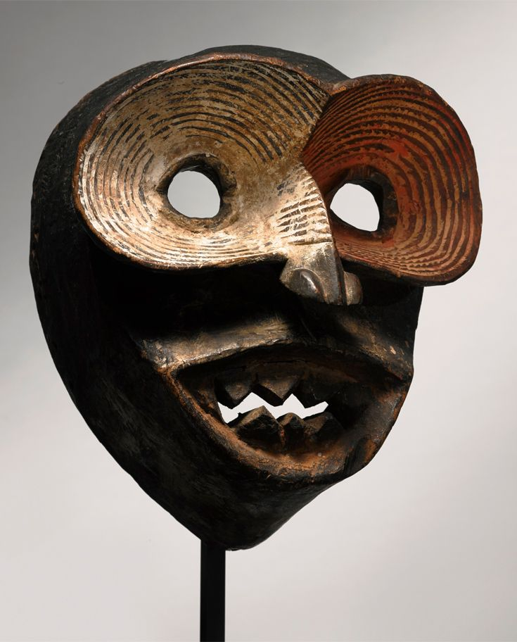 Africa | Mask from Ibibio people of Eastern Nigeria | Wood and pigment