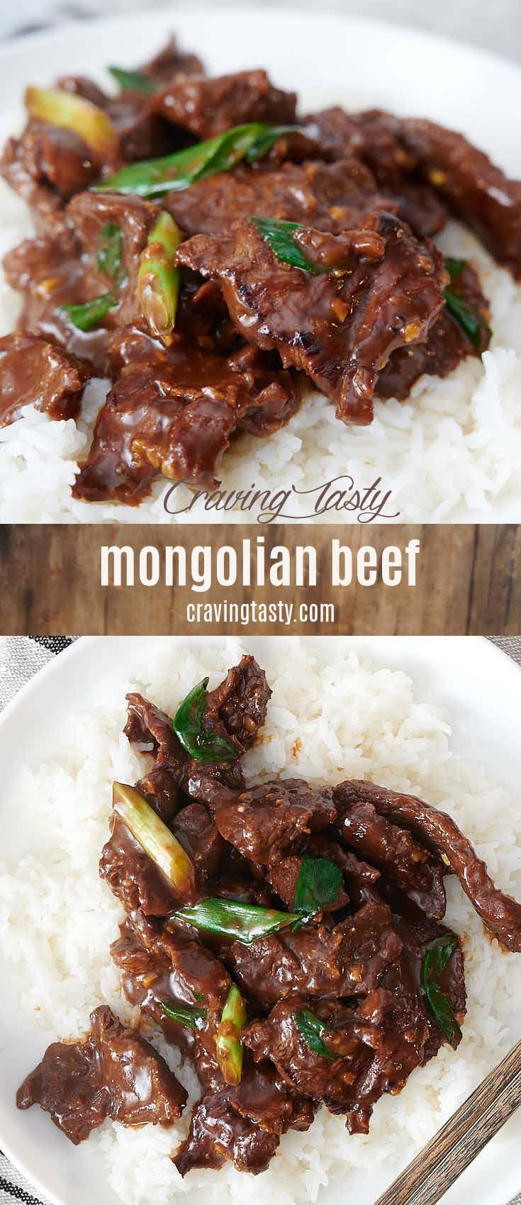 Quick And Easy Mongolian Beef Recipe Made With A Delicious Sauce