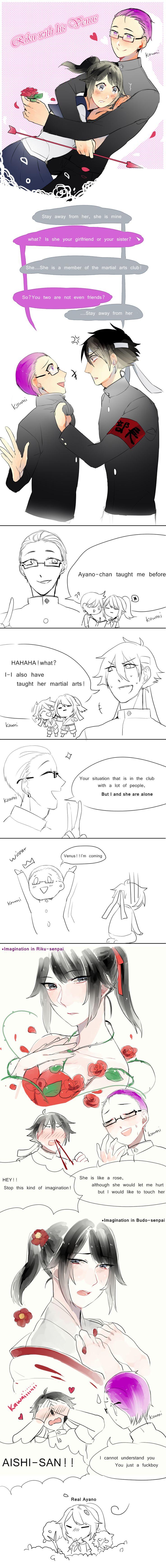 Riku with his Venus(X) by KOUMI04