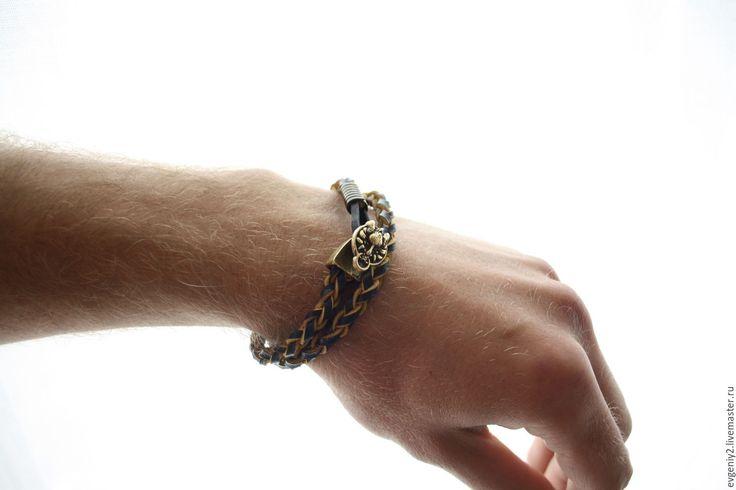 Купить Махес - коричневый, мужской подарок, мужской браслет, Браслет ручной работы, браслет из кожи