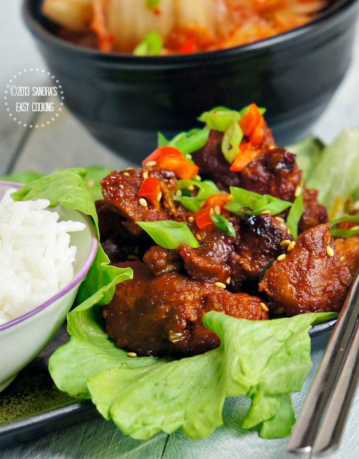 {KOREA} Spicy Grilled Boneless Pork Spare Ribs @SECooking | Sandra
