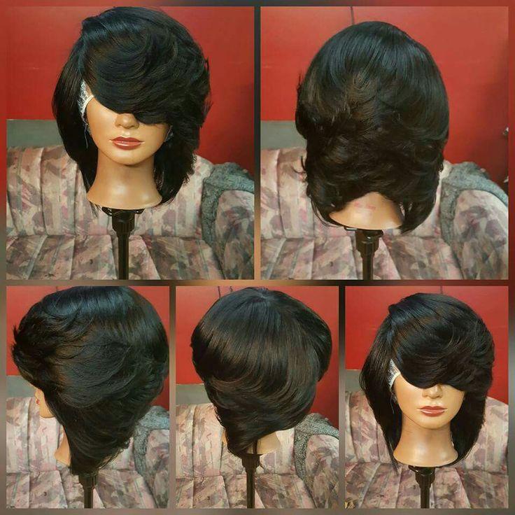 Feathered Black Bob Hair Styles And Ideas Pinterest