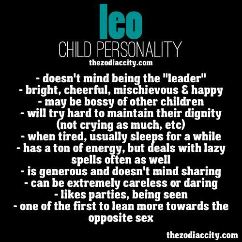 Leo Child Personality.