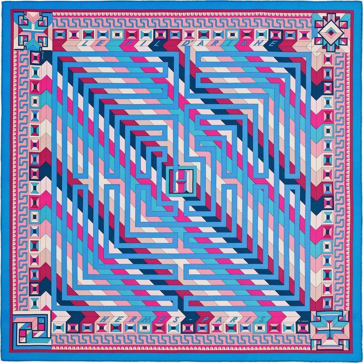 le fil dariane hermes silk twill scarf hand rolled 36 x