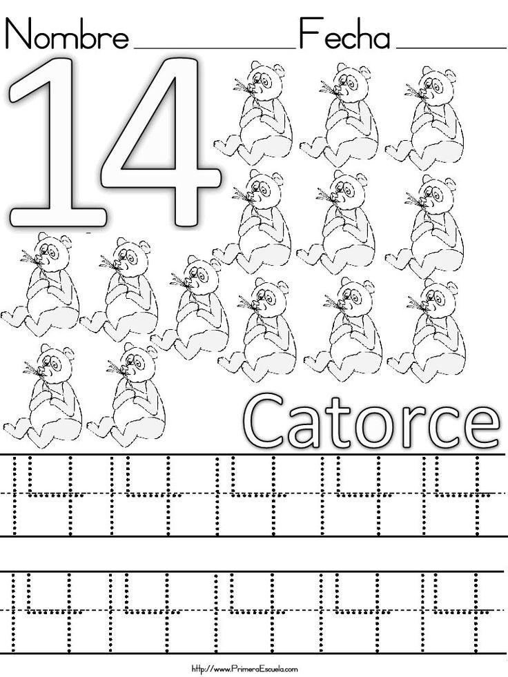 Mejores 17 im genes de fichas de n meros en pinterest - Programa para pintar ...