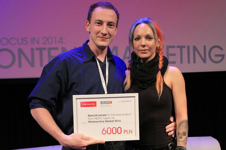 "The Winners of Filmteractive Market NDPC award -  the project ""Axion"" represented by Jasmine Idun Lyman (Sweden) and Julian Malinowski (Poland)"