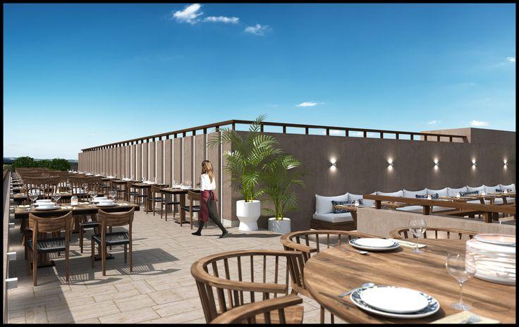 HOTEL ROOFTOP RESTAURANT DESIGN