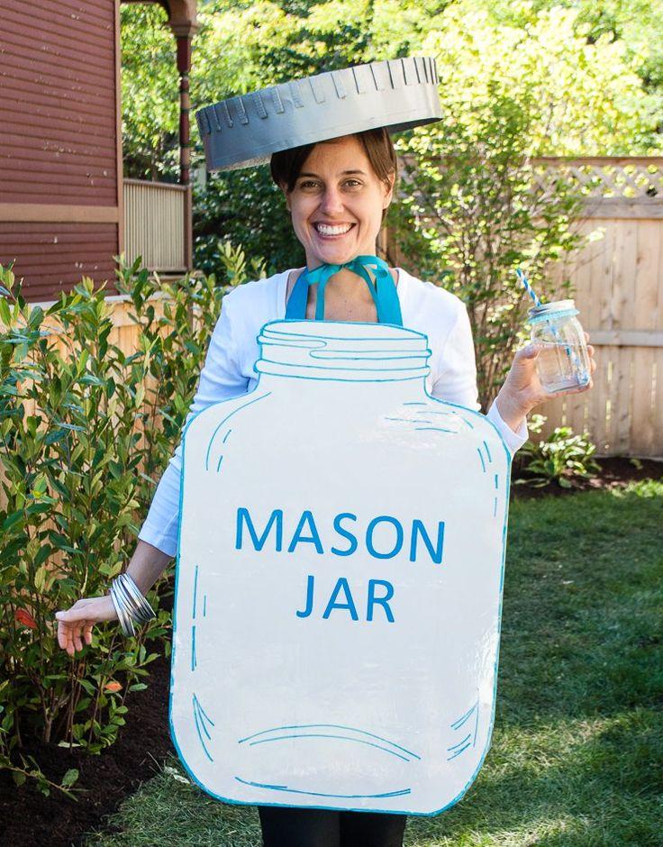 Mason Jar Handmade Halloween Costume - Easy DIY Halloween Costume Idea for Adults