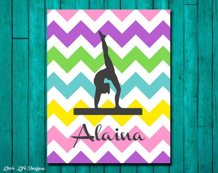 Personalized Gymnast Sign. Gymnastics Wall Art. Gift for Gymnast. Gymnastics Party Decor. Personalized Gymnastics. Custom Girls Room Decor. by LittleLifeDesigns on Etsy