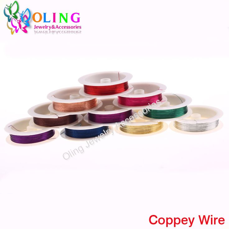 0.3MM 20M/Roll Copper Wire 2015 new mixed multicolor plated Beading Wire Jewelry Findings DIY Jewelry Accessories Cord/String