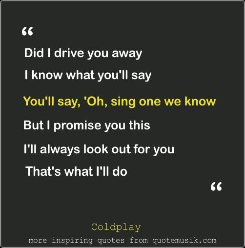 Moving On Move On Quotes Coldplay Sparks