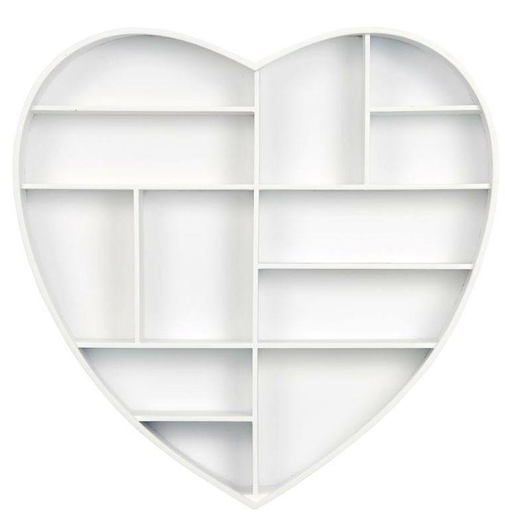 Letterbak hart: vul deze letterbak met fotootjes, kleine knuffeltjes of andere lieve items #inspiratie #babykamer #kidsroom