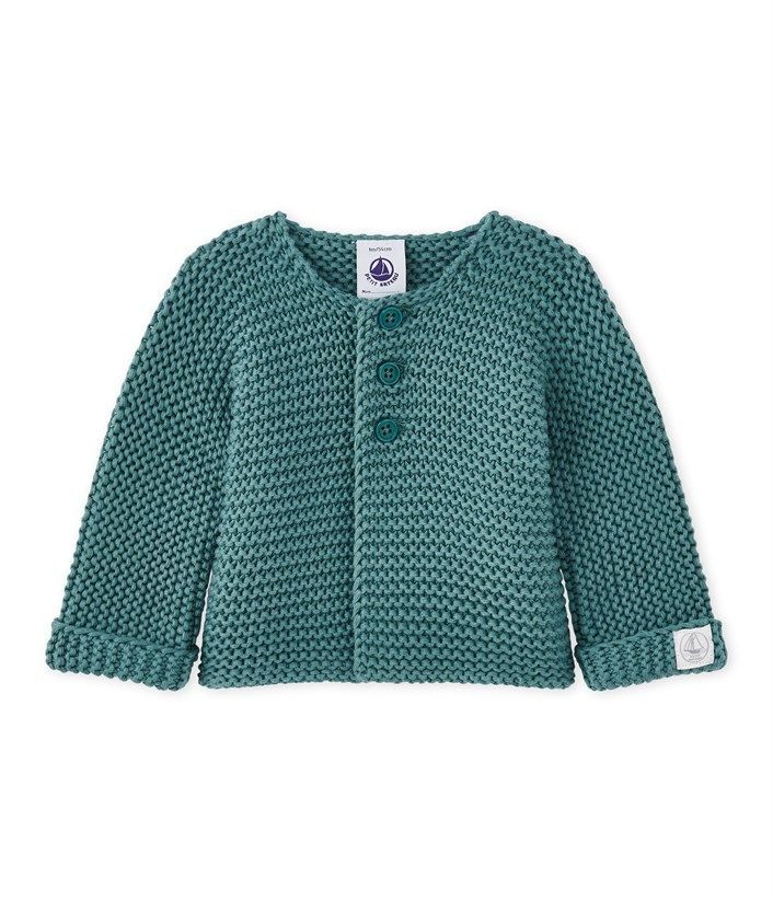 fc6de669d2e7 Unisex baby cardigan Brut blue. See our range of clothing and ...