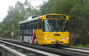 The Adelaide O-Bahn Busway is a guided busway located in Adelaide, South Australia.