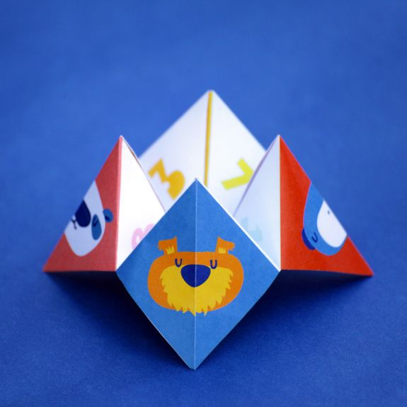 Get Silly Paper FortuneTeller Game with Silly Street. A free printable paper Fortune Teller game that is perfect for car trips and plane trips. Your kids will love this engaging and entertaining game!