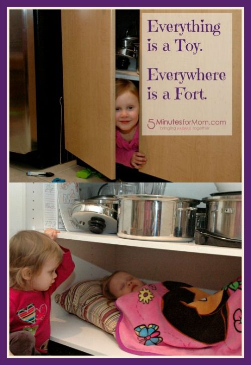 Do your kids turn everything into a toy and everywhere into a fort?