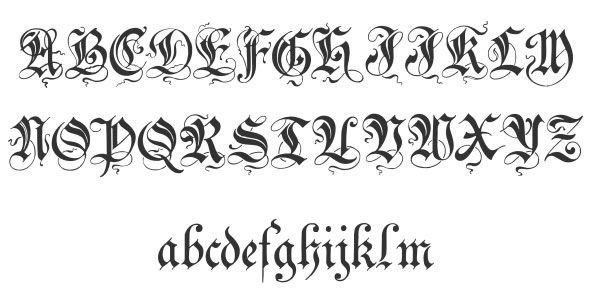 Fancy Cursive Fonts Alphabet For Tattoos cursive, lettering tattoo ...