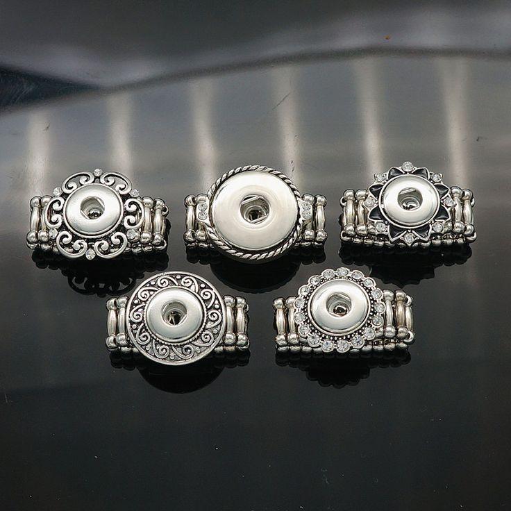 Vendita calda JZ0010 Elegante Rotonda a scatto In Metallo anelli trendy flessibile fit 12 MM bottoni a pressione raccordi FAI DA TE all'ingrosso delle donne