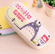 Cute Cartoon My Neighbor Totoro PU Leather Pencil Case Stationery Storage Organizer Bag School Supply Escolar Papelaria