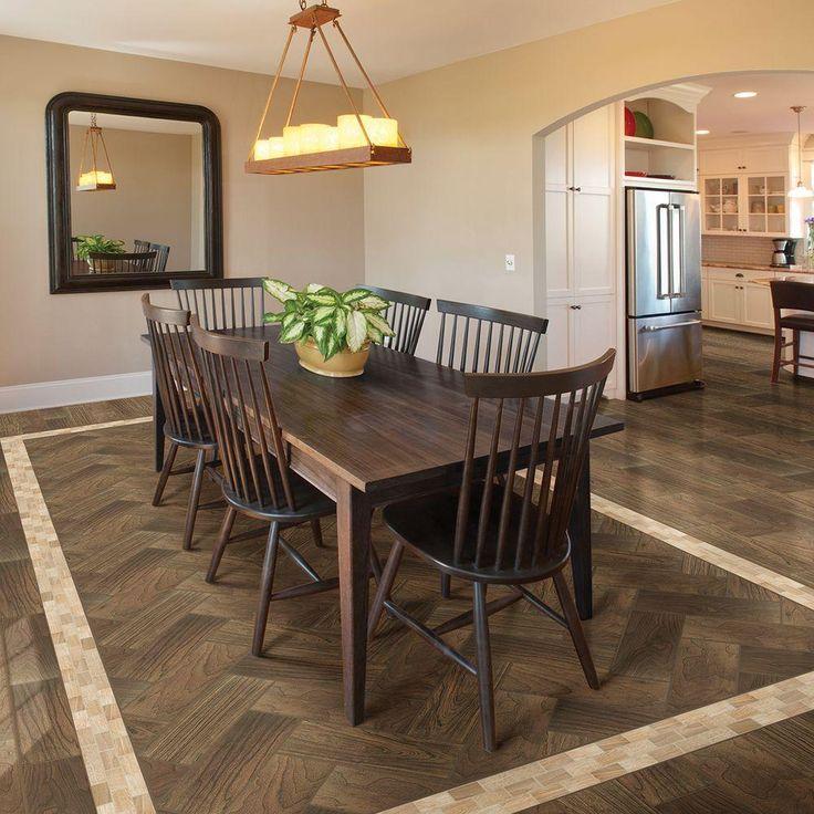Daltile Parkwood Brown 7 In X 20 In Ceramic Floor And
