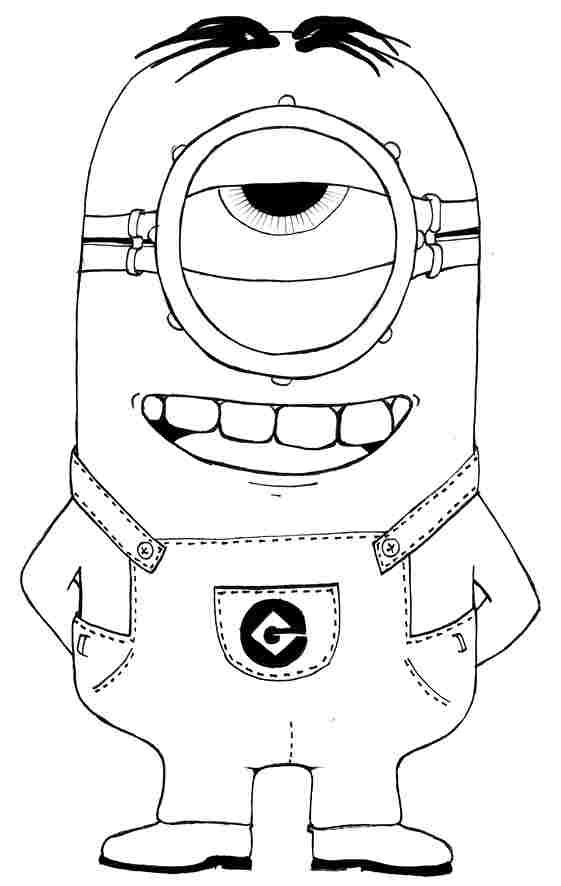 Anime Movie Despicable Me Minion Colouring Pages Printable For