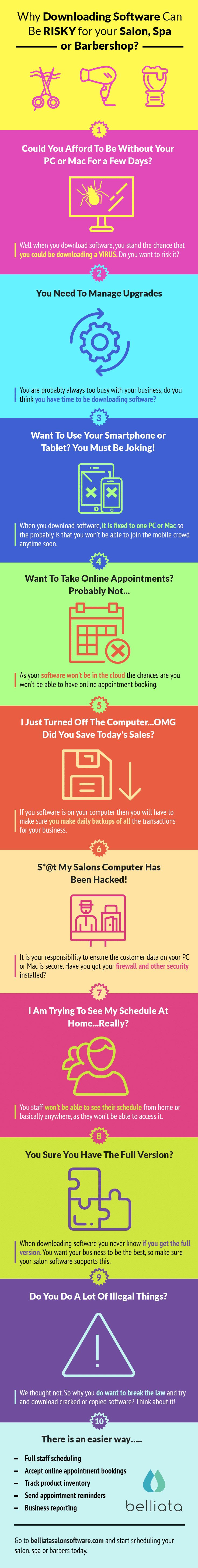 Looking for a salon software free download?   https://belliatasalonsoftware.com/free-download  @getbelliata tell you why it is not good for your salon, spa or barber shop.  #hairsalon #barbershop #salonsoftware #nailsalon